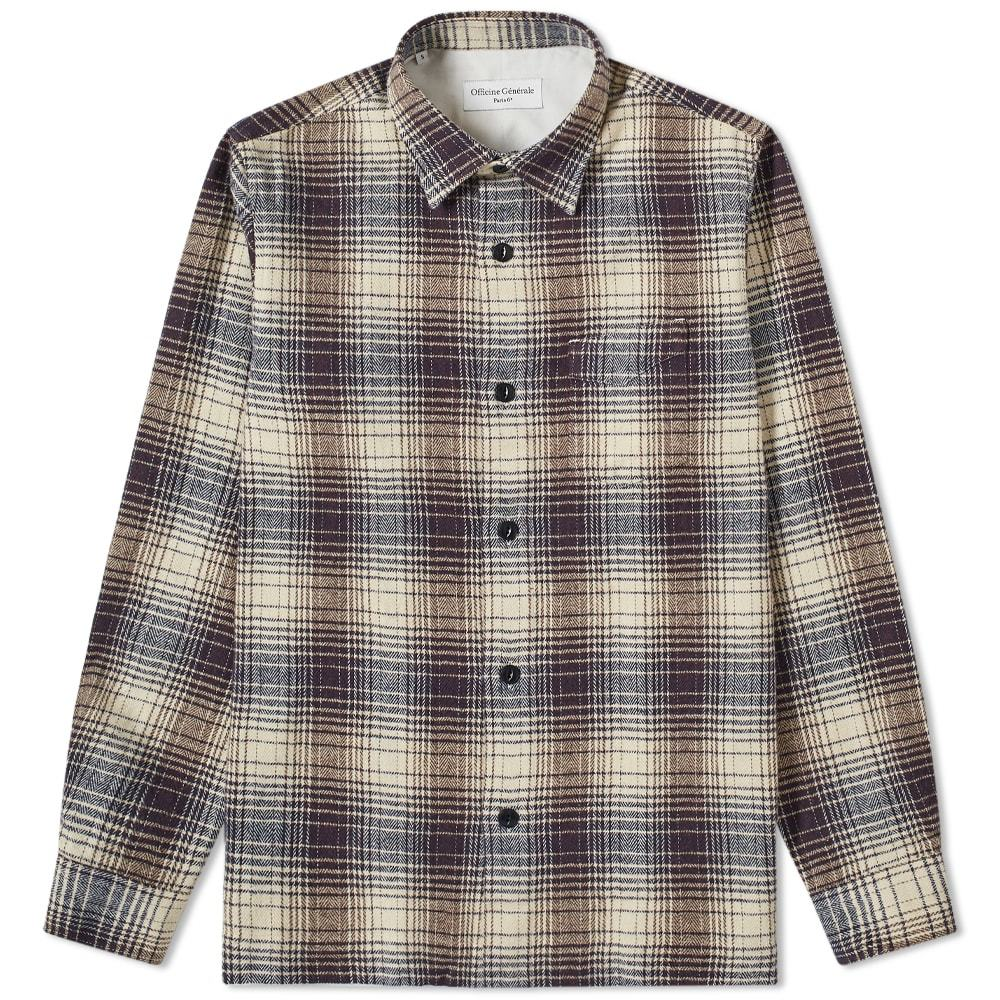 Photo: Officine Generale Sol Ombre Check Overshirt