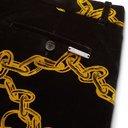 Aries - Black Pleated Printed Cotton-Velvet Suit Trousers - Black