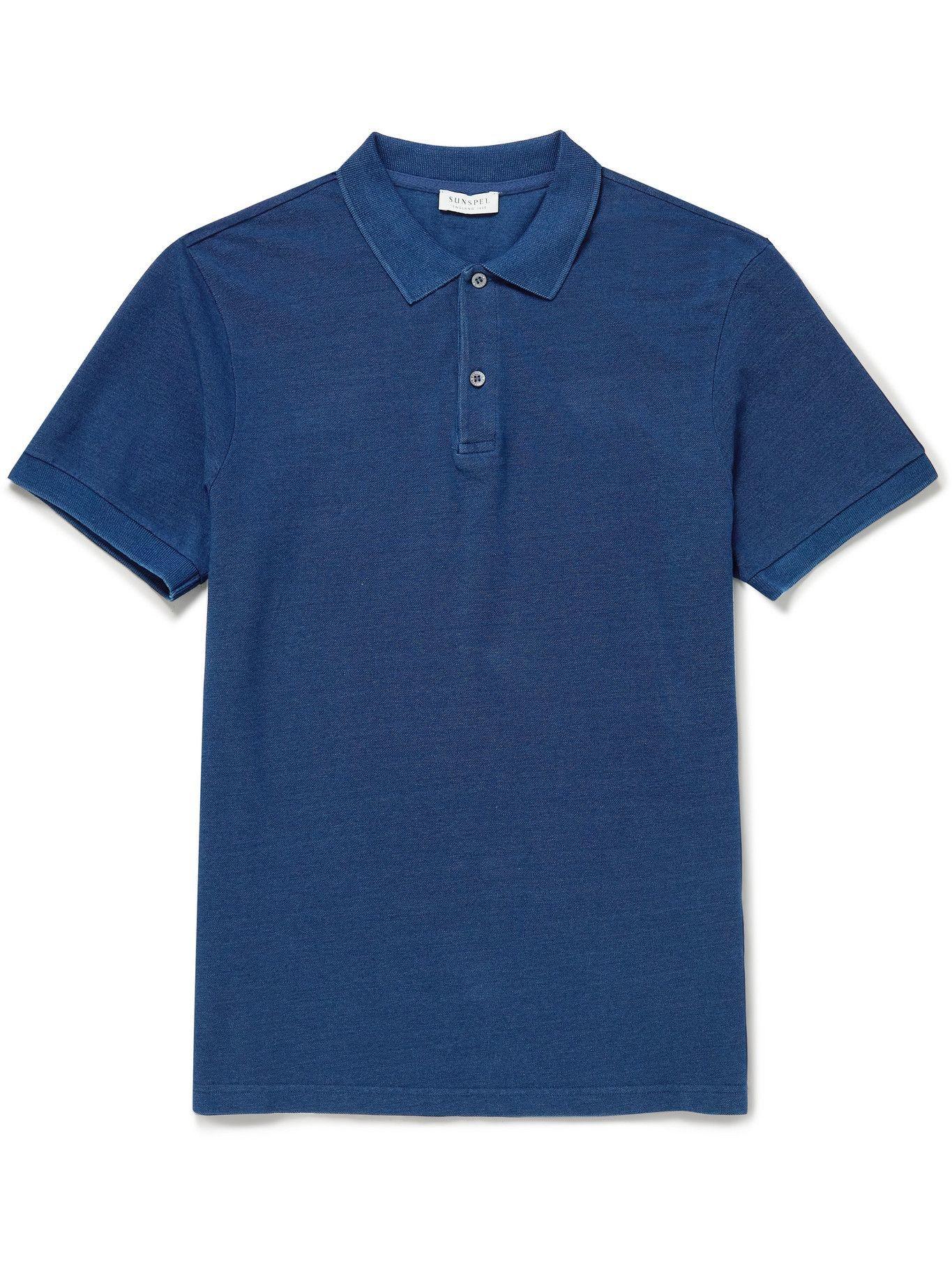 Photo: Sunspel - Pima Cotton-Piqué Polo Shirt - Blue
