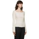 3.1 Phillip Lim White Wool Open Neck Sweater