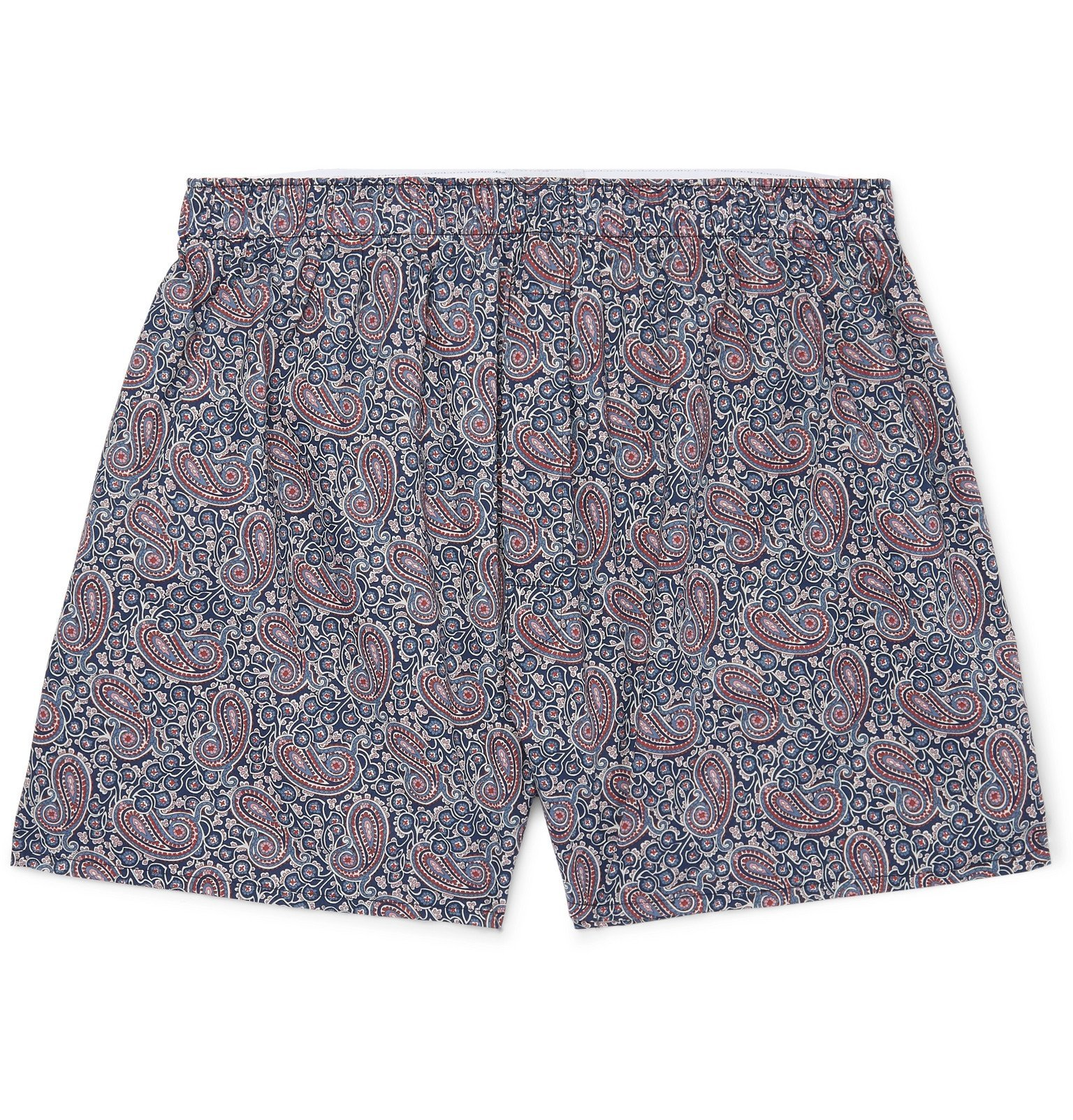 Photo: Sunspel - Paisley-Print Cotton Boxer Shorts - Blue