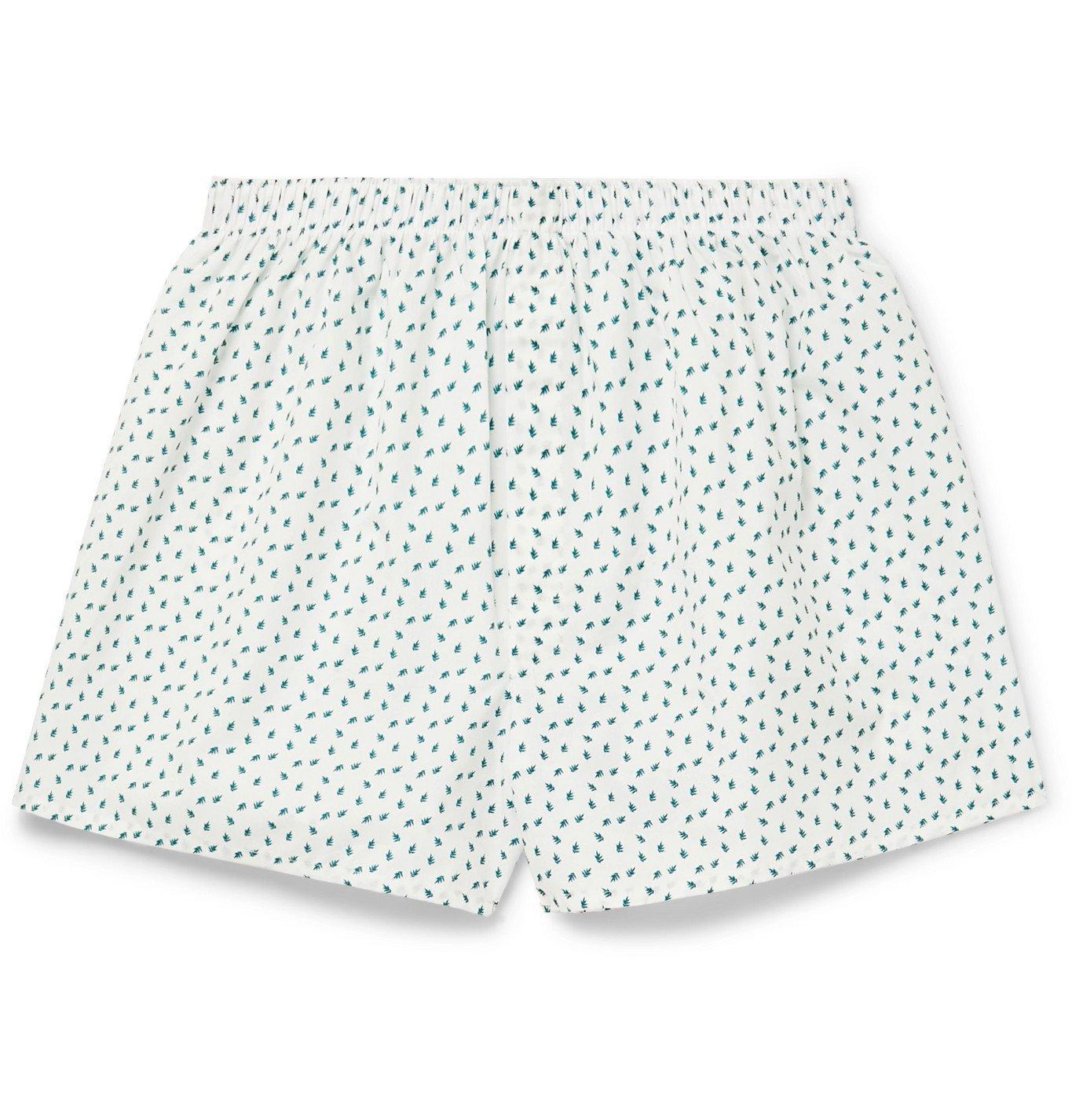 Photo: Sunspel - Printed Cotton Boxer Shorts - Green