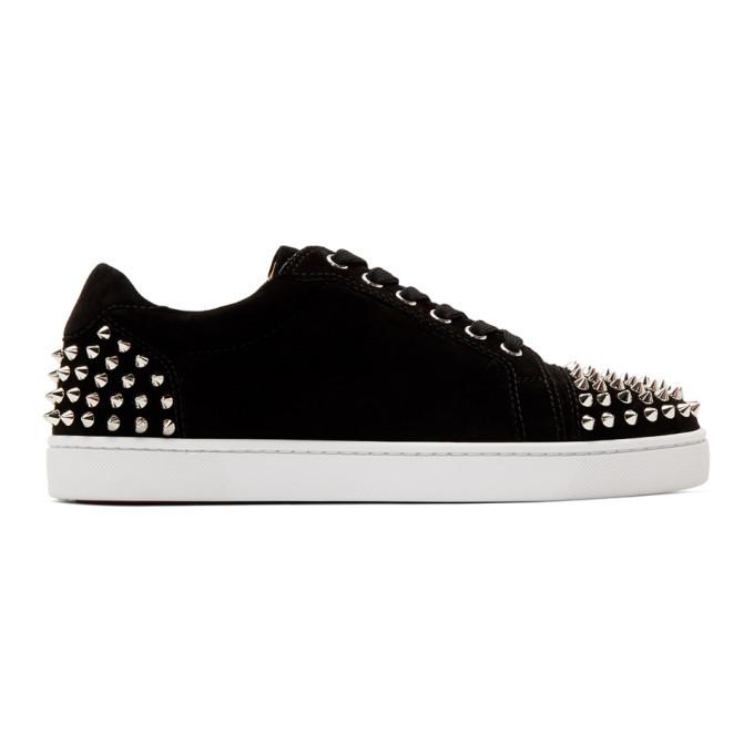 Photo: Christian Louboutin Black Suede Seavaste 2 Sneakers