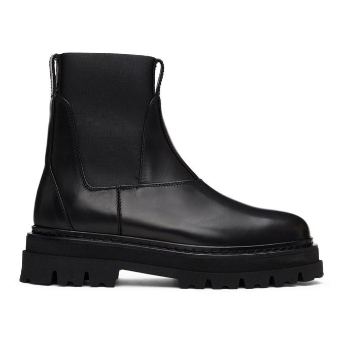 Photo: 3.1 Phillip Lim Black Lug Sole Sam Chelsea Boots