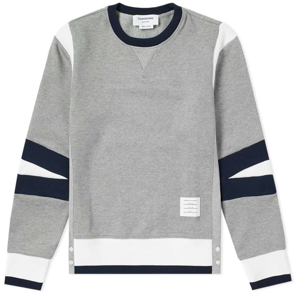 Photo: Thom Browne Articulated Crew Sweat Grey