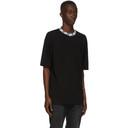 Acne Studios Black Face Motif Mock Neck T-Shirt