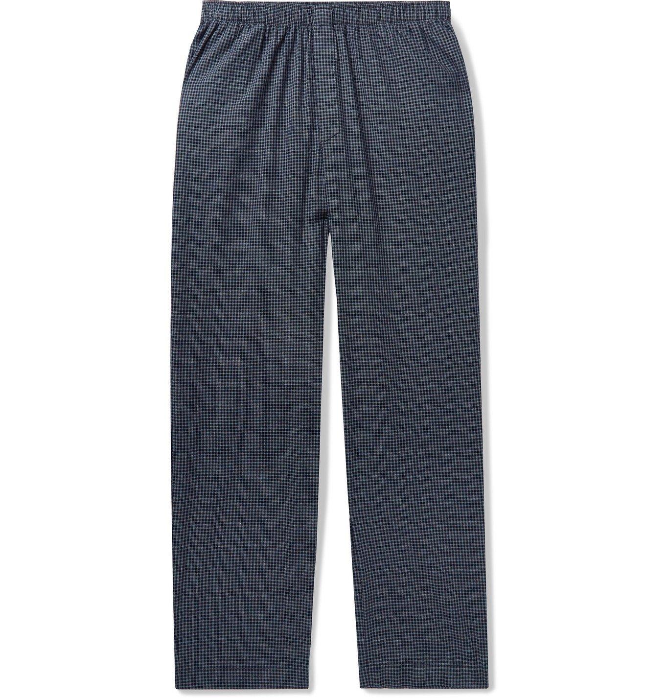 Photo: Sunspel - Striped Cotton Pyjama Trousers - Black