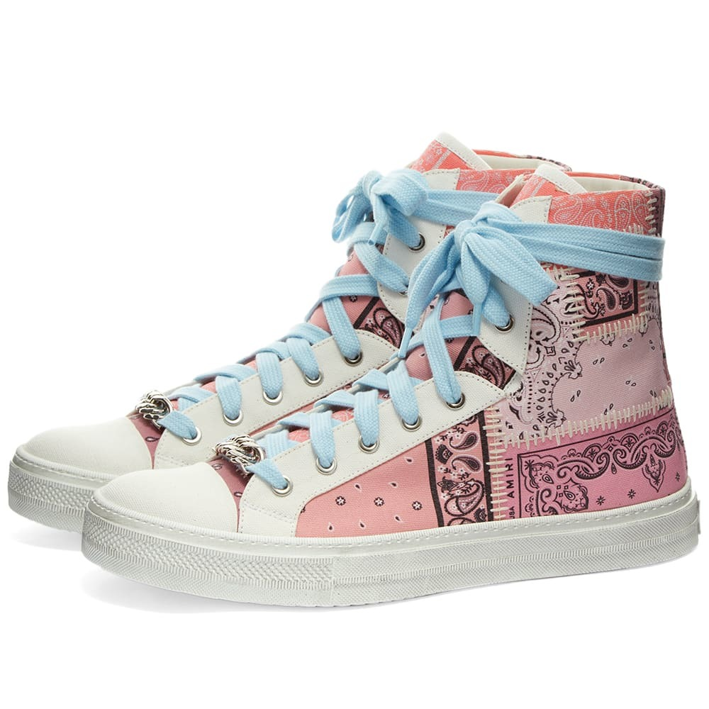 Photo: AMIRI Bandana Patchwork Hi Sunsets Sneaker