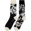Sacai Black and White Floral Socks
