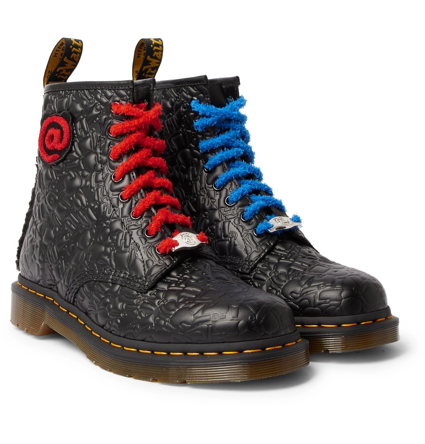 Photo: Dr. Martens - Bearbrick Faux Fur-Trimmed Quilted Leather Boots - Black