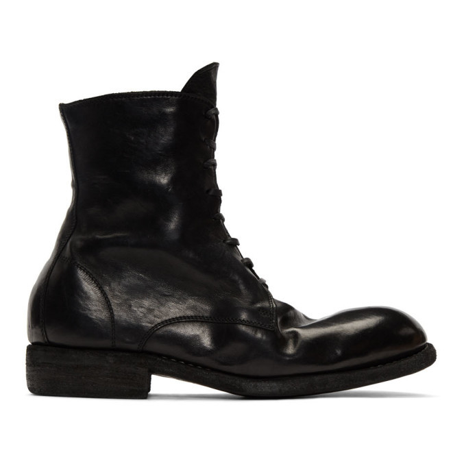 Photo: Guidi Black Classic Lace-Up Boots