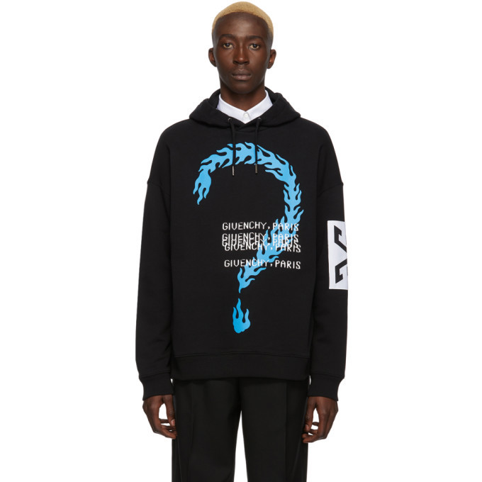 Photo: Givenchy Black Burning Question Hoodie