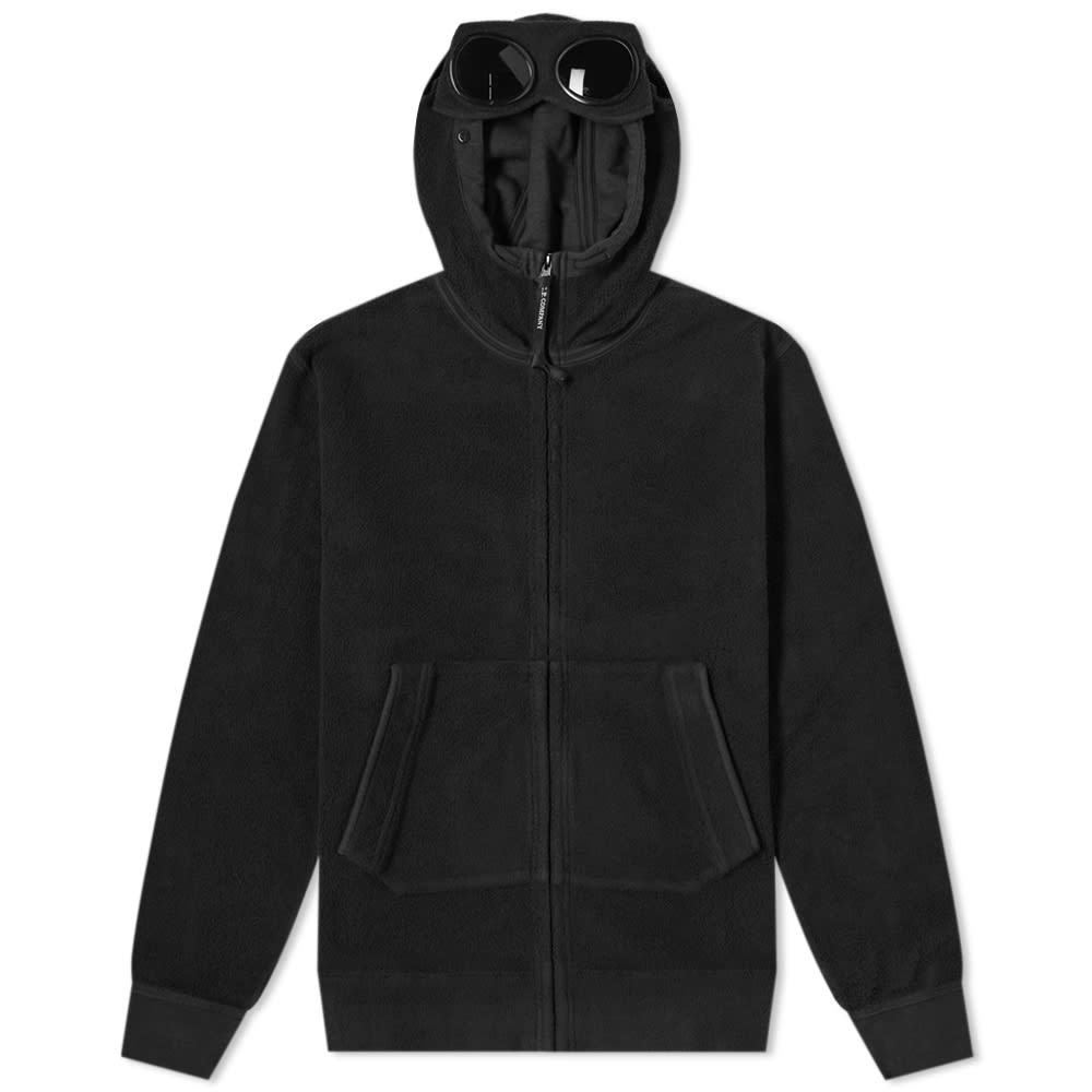 Photo: C.P. Company Brushed Fleece Zip Goggle Hoody