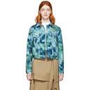 3.1 Phillip Lim Blue and Green Denim Tie-Dye Jacket