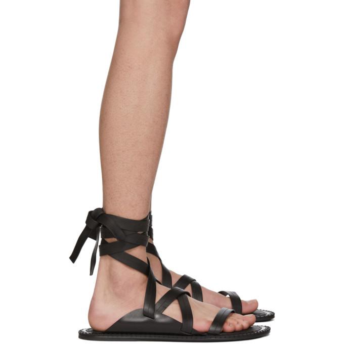 Photo: Ann Demeulemeester Black Guard Sandals