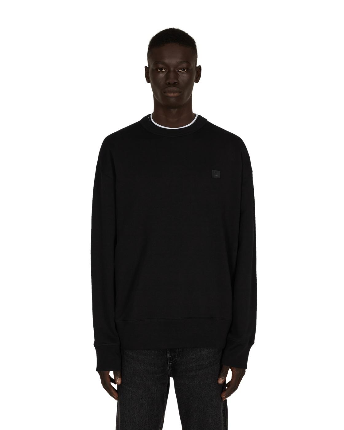 Photo: Acne Studios Face Crewneck Sweatshirt Black