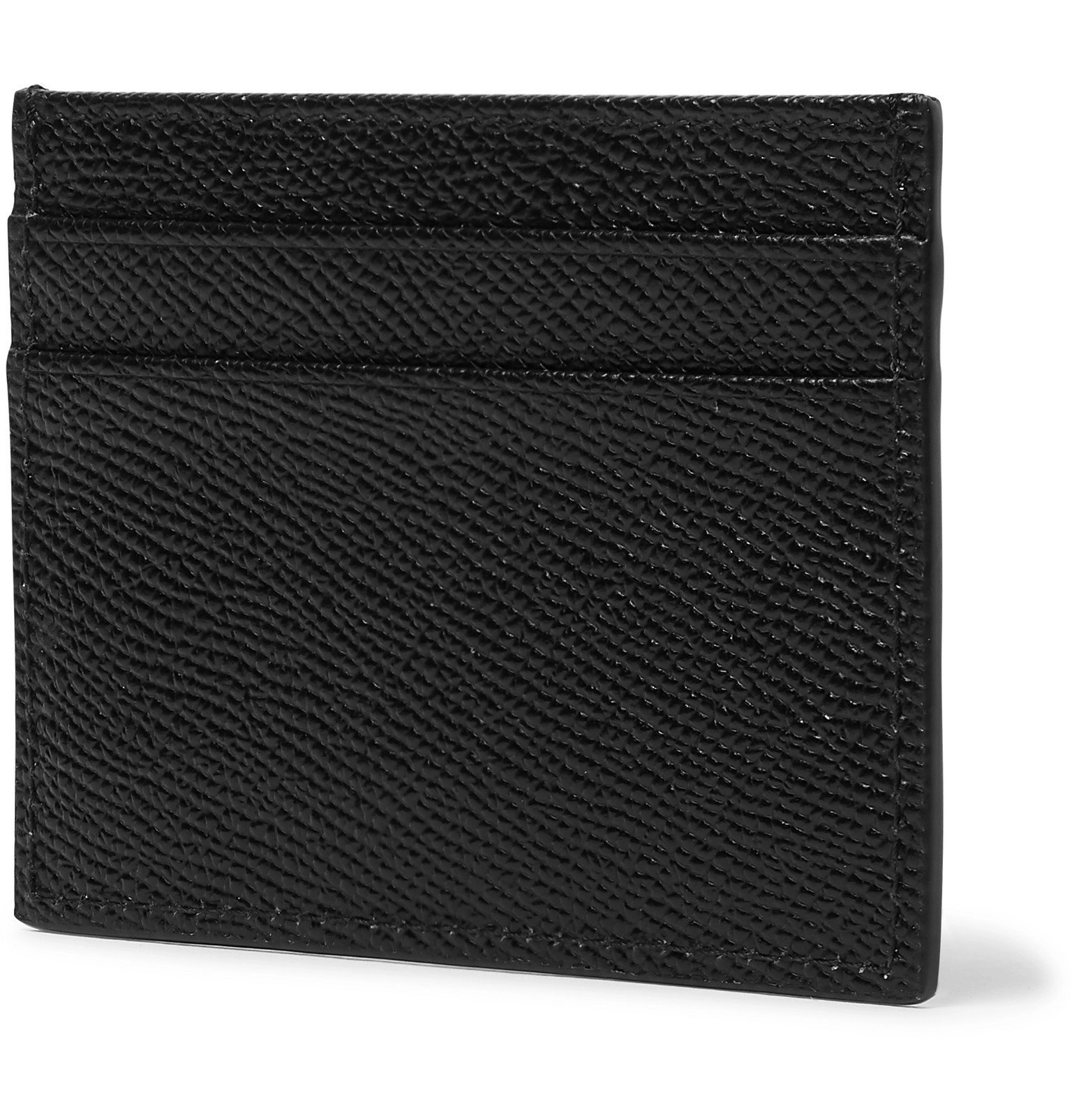 Dolce & Gabbana - Logo-Appliquéd Full-Grain Leather Cardholder - Black