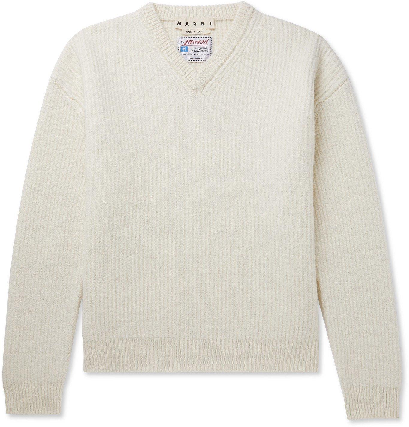 Photo: Marni - Ribbed Virgin Wool Sweater - Neutrals