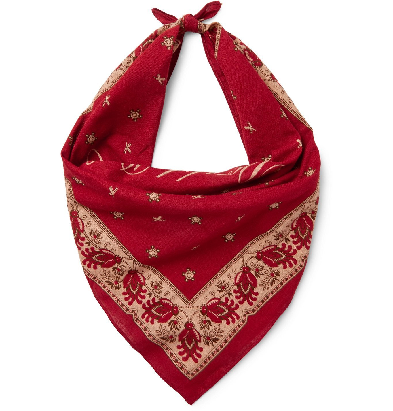 Photo: RRL - Robbin Printed Cotton-Voile Bandana - Red