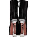 Amina Muaddi Black Plexi Heel Dua Boots