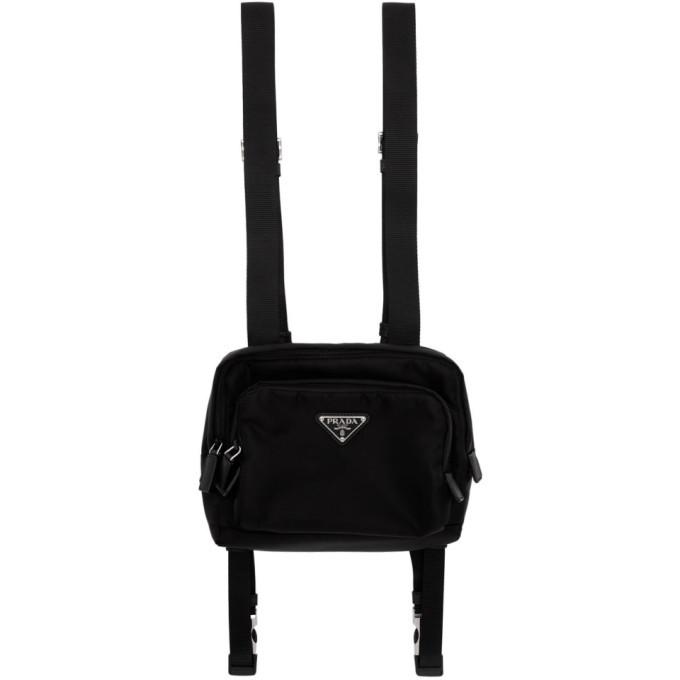 Photo: Prada Black Nylon Harness Backpack