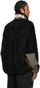 Miharayasuhiro Black Boa Fleece Zip-Up Jacket