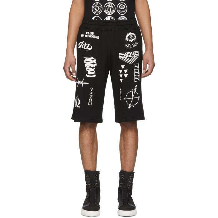 Photo: KTZ Black and White Patch 005 Shorts