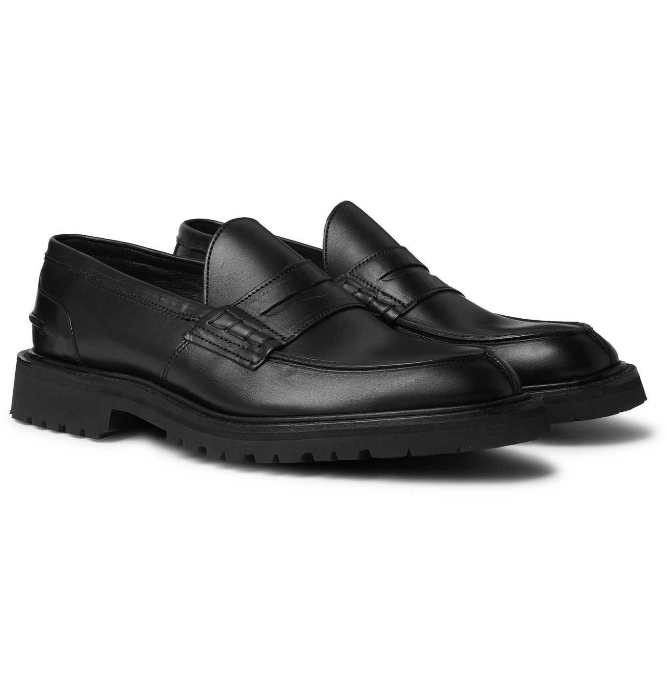 Photo: Tricker's - James Leather Loafers - Black