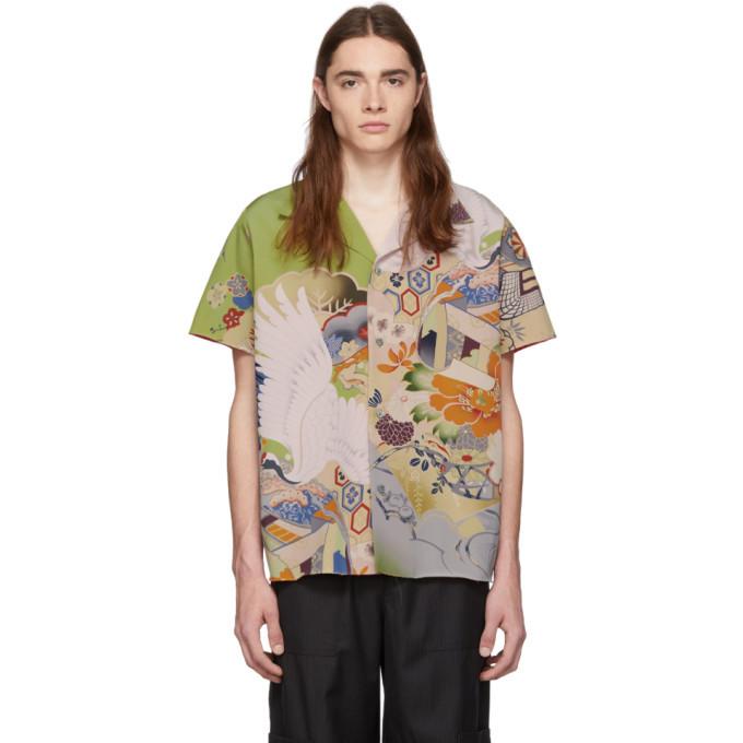 Photo: Maison Margiela Multicolor Silk Artisanal Kimono Shirt