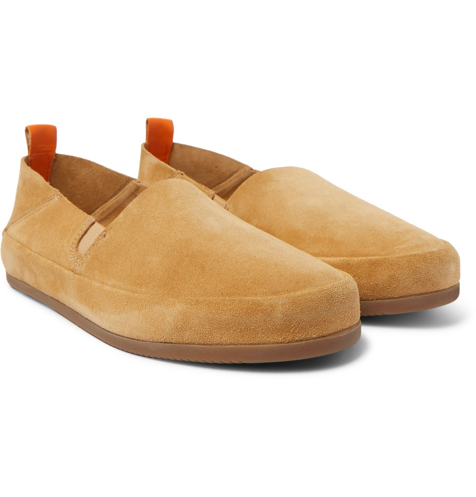 Photo: Mulo - Collapsible-Heel Suede Loafers - Brown