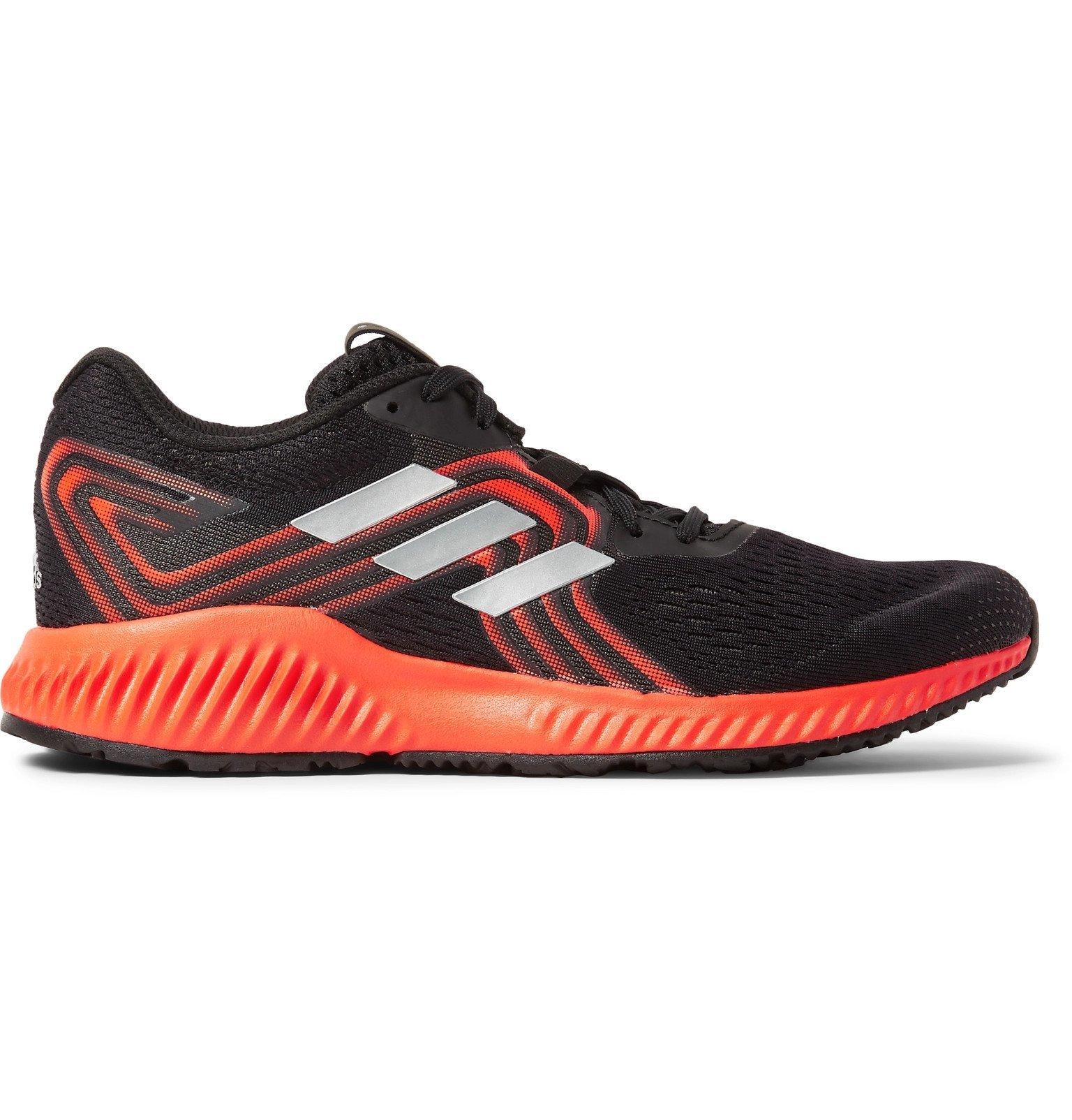 Photo: Adidas Sport - Aerobounce Mesh Running Sneakers - Black