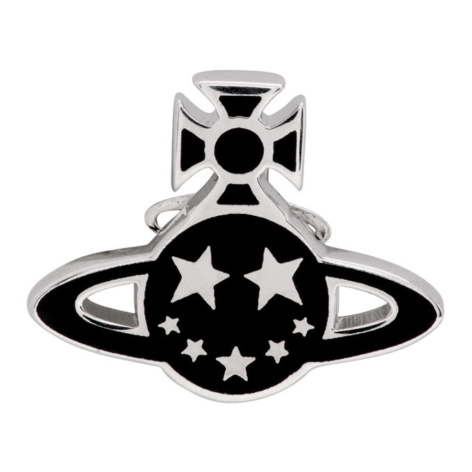 Photo: Vivienne Westwood Black and Silver Man Lazarus Single Earring