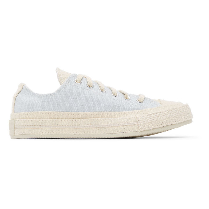Photo: Converse Pink and Blue Renew Cotton Chuck 70 Ox Sneakers