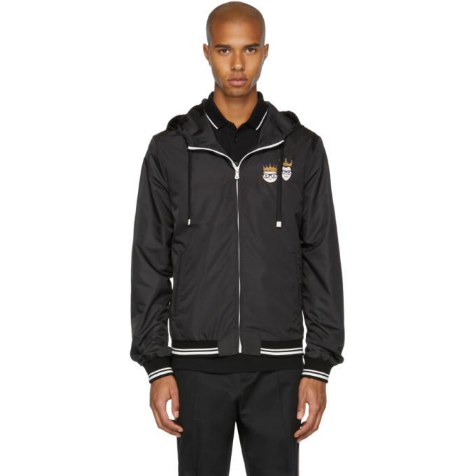 Photo: Dolce and Gabbana Black Hooded Zip Jacket