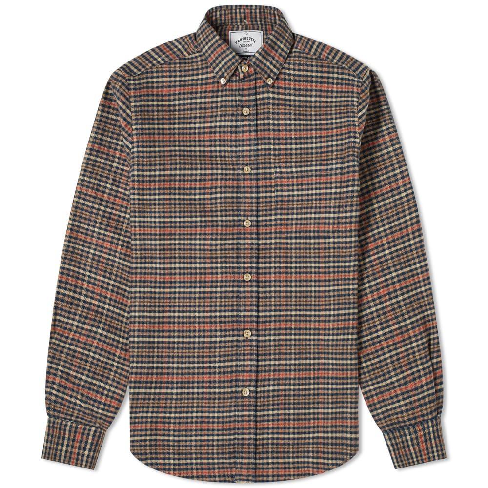Photo: Portuguese Flannel Twill Button Down Check Shirt