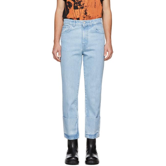 Raf Simons Blue Turn Up Jeans