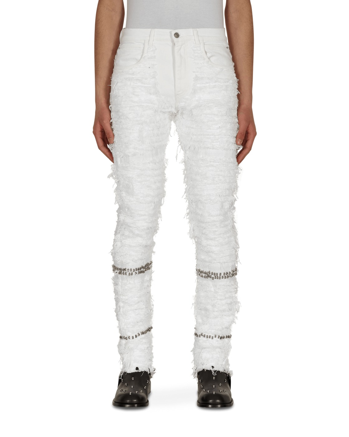 Photo: 1017 Alyx 9sm Blackmeans Studded Denim Pants White