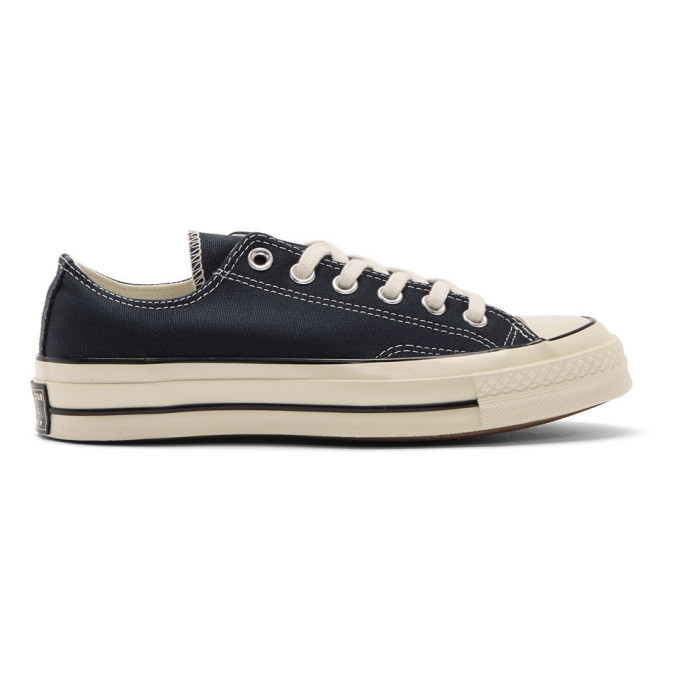 Photo: Converse Navy Chuck 70 Low Sneakers