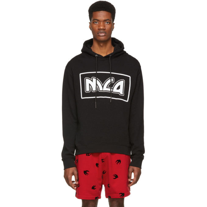 Photo: McQ Alexander McQueen Black Big Box Logo Hoodie