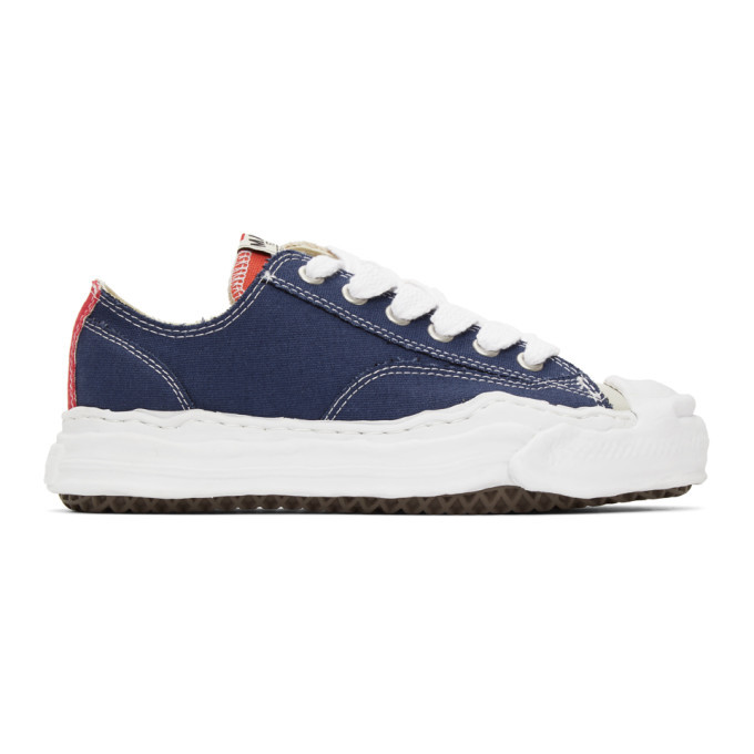 Photo: Miharayasuhiro Navy and Beige Original Sole Sneakers