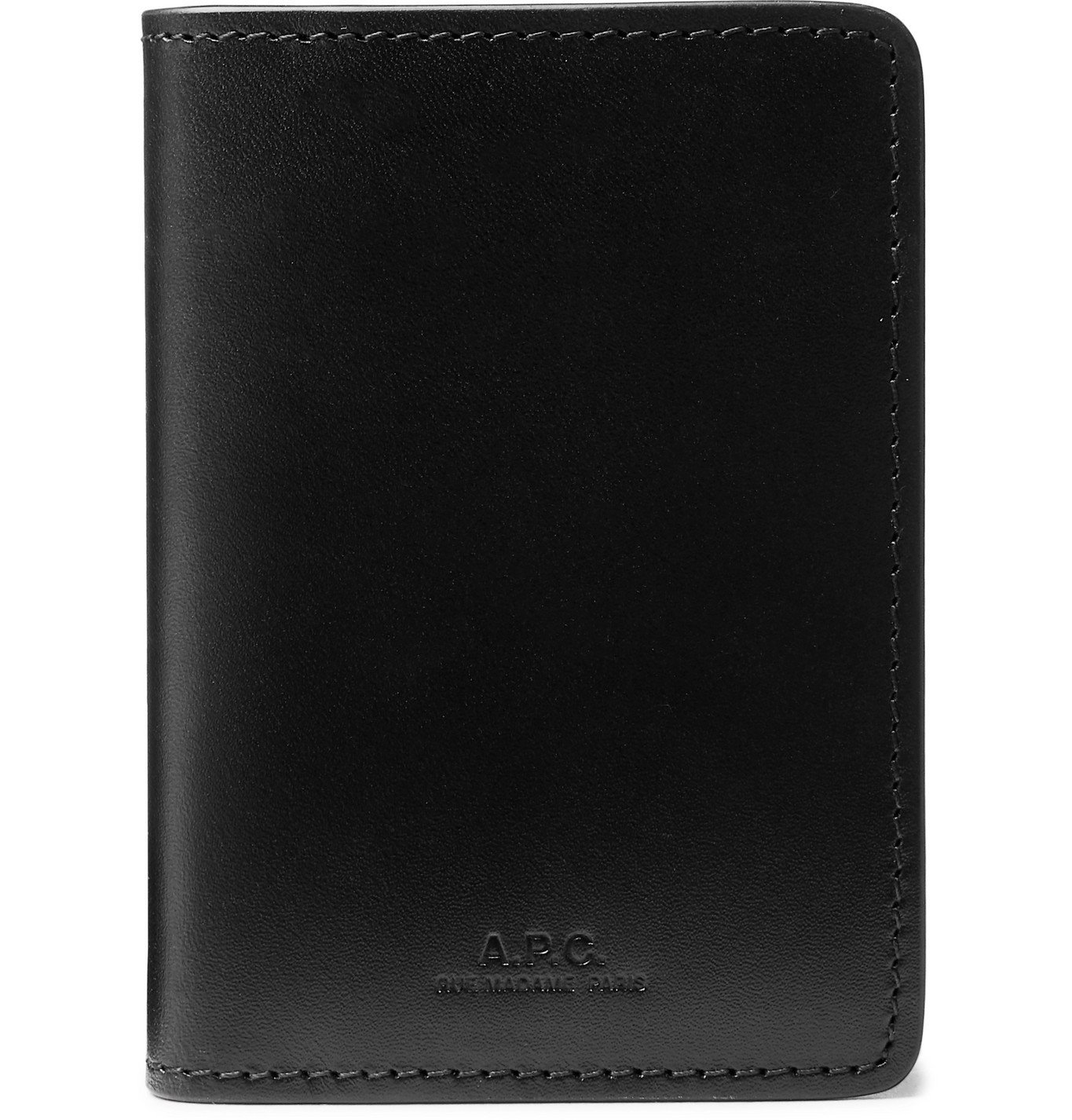 Photo: A.P.C. - Leather Bifold Cardholder - Black