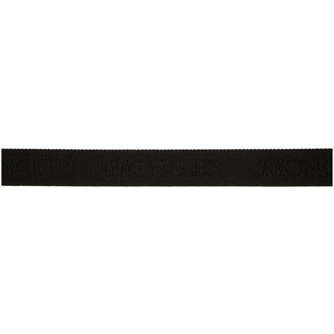 Moncler Black Logo Belt