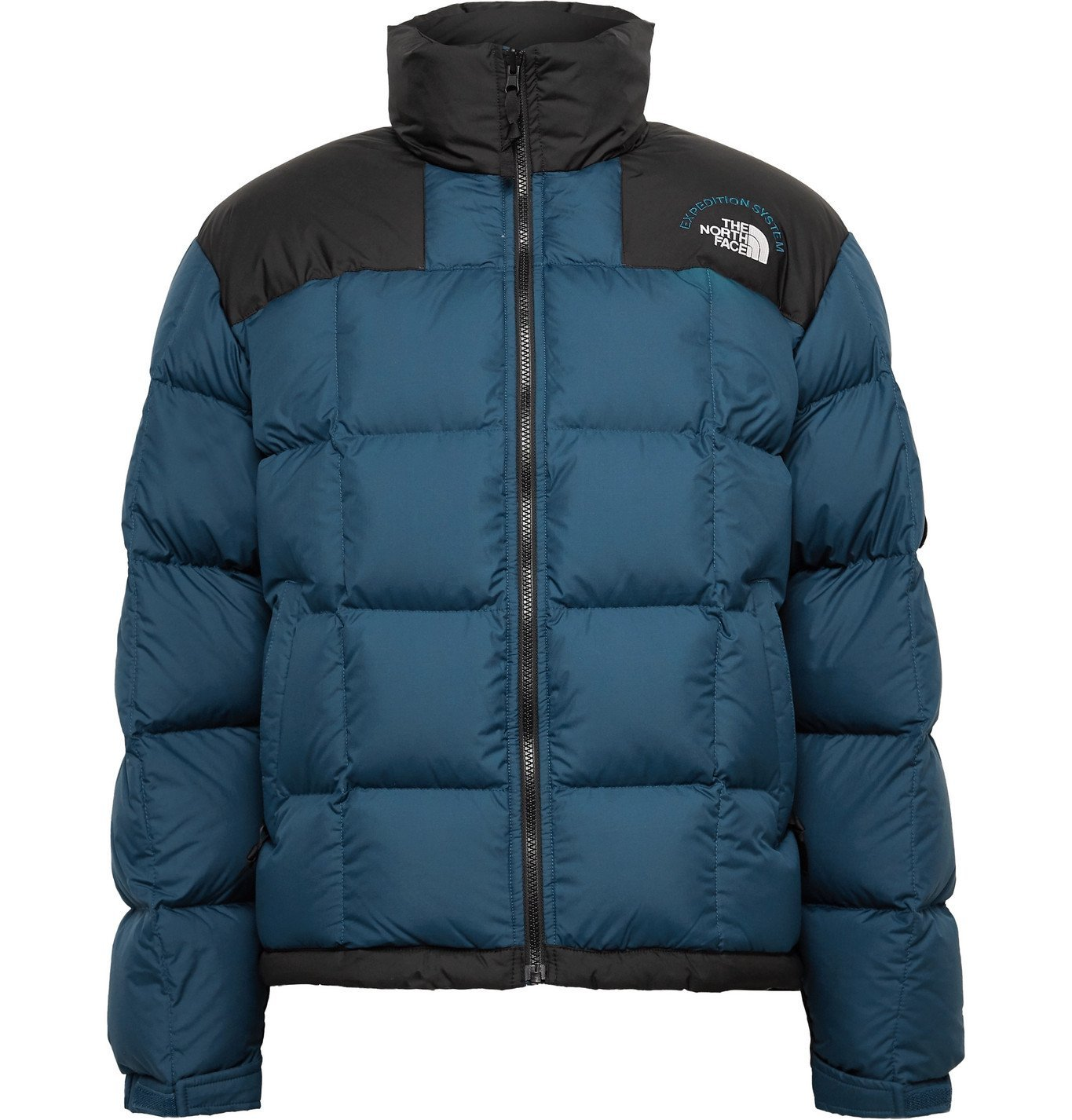 Photo: The North Face - NSE Lhotse Expedition Panelled Quilted Ripstop and Shell Down Jacket - Blue