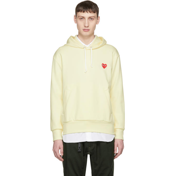 Photo: Comme des Garçons Play Off-White Heart Patch Hoodie