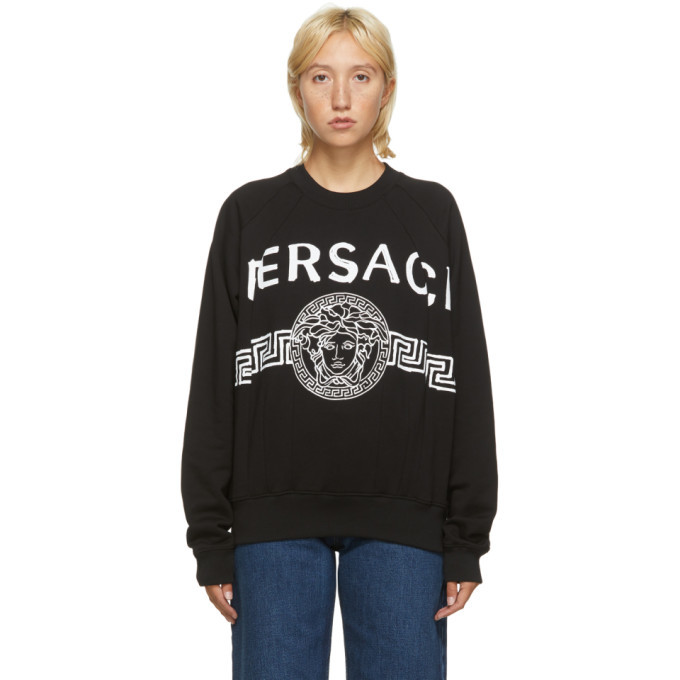 Photo: Versace Black Vintage Medusa College Sweatshirt