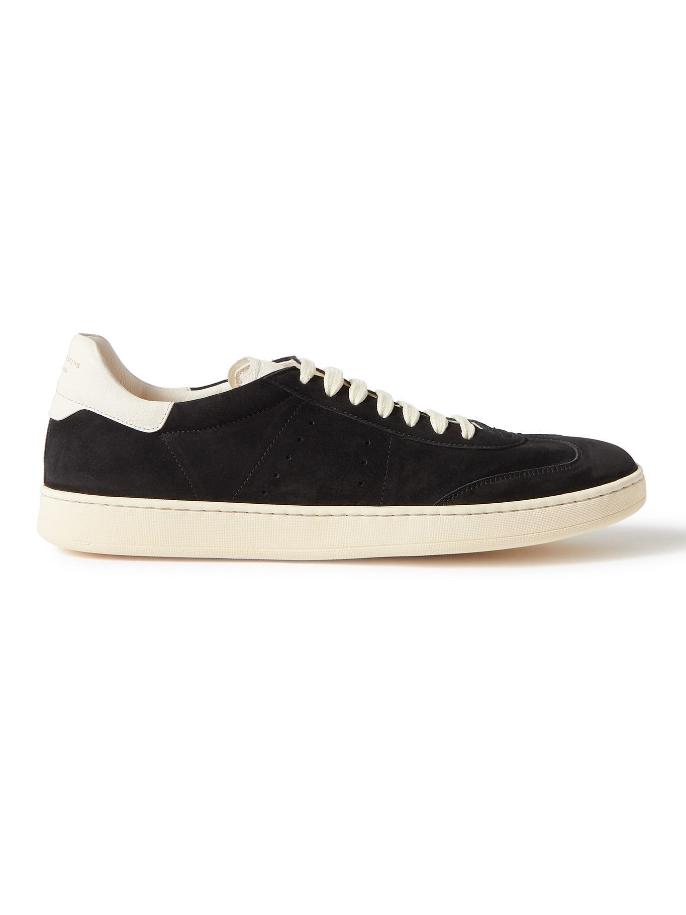 Photo: OFFICINE CREATIVE - Kombo Leather-Trimmed Suede Sneakers - Black