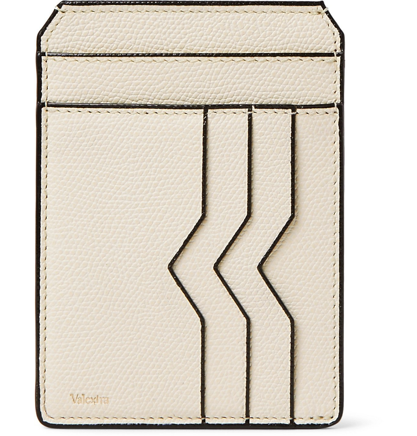 Photo: Valextra - Pebble-Grain Leather Cardholder - Neutrals