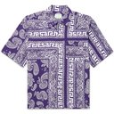 ARIES - Convertible-Collar Bandana-Print Woven Shirt - Blue - M