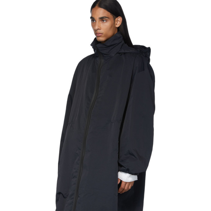 Bottega Veneta Black Nylon Parka