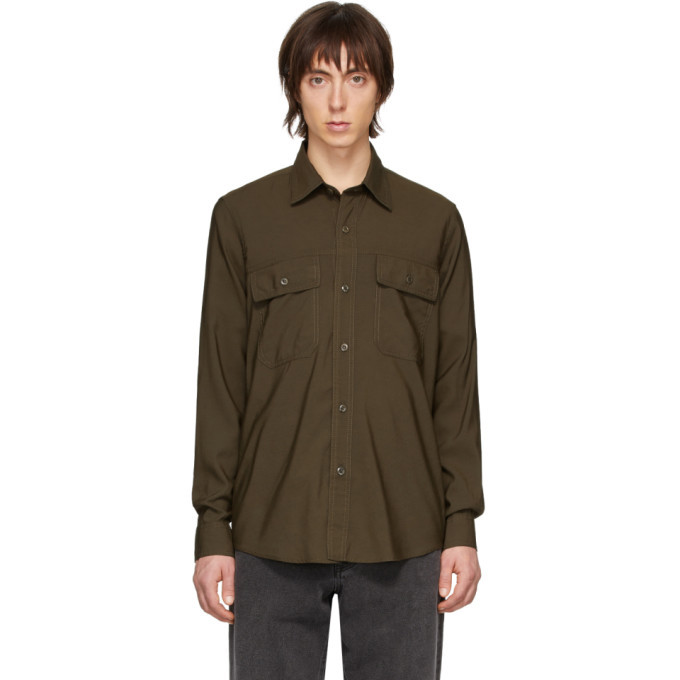 Photo: AMI Alexandre Mattiussi Green Double Pocket Shirt